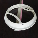 Filter bag plastic ring